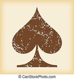 Grungy spades icon