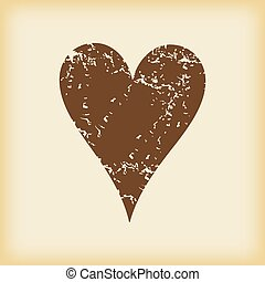 Grungy hearts icon