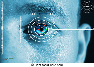 iris scan security - iris scan for security or...