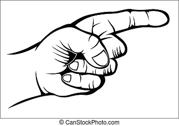 Pointing hand - Vector illustration : Pointing hand sketch...