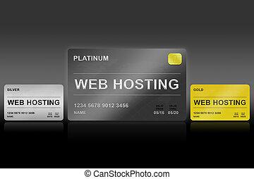web hosting platinum card on black background