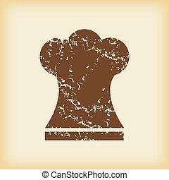 Grungy chef hat icon