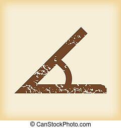 Grungy angle icon - Grungy brown icon with image of angle,...