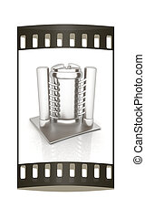 3d abstract metal pressure vessel The film strip - 3d...