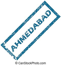 Ahmedabad rubber stamp - Vector blue rubber stamp with city...