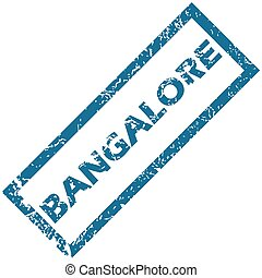 Bangalore rubber stamp - Vector blue rubber stamp with city...