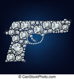 Gun made up a lot of diamonds