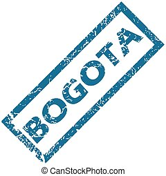 Bogota rubber stamp - Vector blue rubber stamp with city...