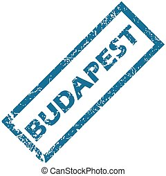 Budapest rubber stamp - Vector blue rubber stamp with city...