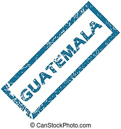 Guatemala rubber stamp - Vector blue rubber stamp with city...
