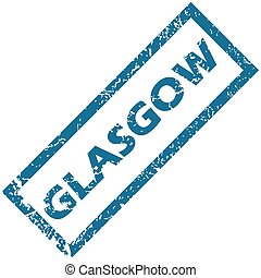 Glasgow rubber stamp - Vector blue rubber stamp with city...