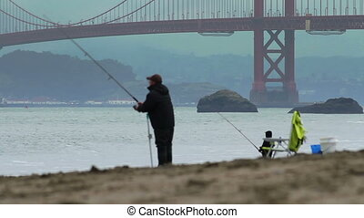 Baker Beach Fisherman