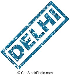Delhi rubber stamp - Vector blue rubber stamp with city name...