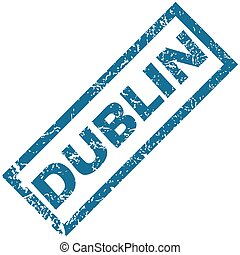 Dublin rubber stamp - Vector blue rubber stamp with city...