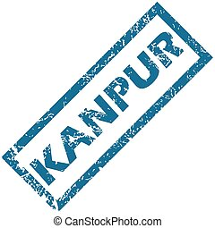 Kanpur rubber stamp - Vector blue rubber stamp with city...