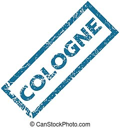 Cologne rubber stamp - Vector blue rubber stamp with city...