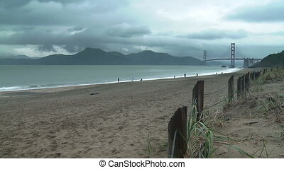 Baker Beach Time-lapse - Time-lapse view from Baker Beach on...
