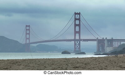 Baker Beach Golden Gate Time-lapse - Time-lapse view from...