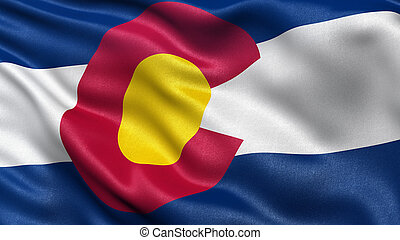 US state flag of Colorado