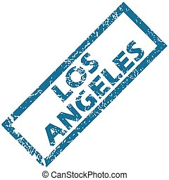 Los Angeles rubber stamp - Vector blue rubber stamp with...