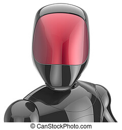 Cyborg black robot android futuristic cyberspace high tech -...