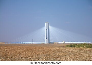 sanlucar solar power station - solar power station at...
