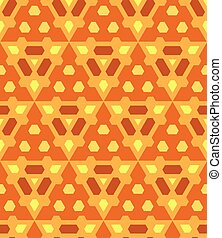 orange yellow brown color abstract geometric seamless pattern