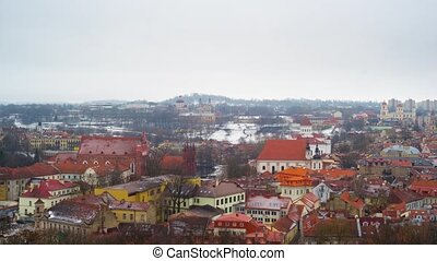 Old Town Vilnius, Lithuania panorama