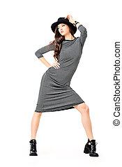 dance and fashion - Studio shot of a magnificent young woman...