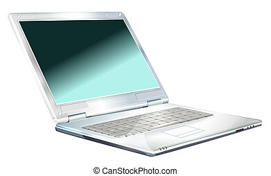 laptop - drawing of gray laptop in a white background