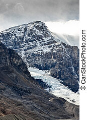 Scenic view of Columbia glacier and mountain peak, Jasper NP...