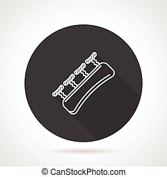 Finger expander black round vector icon - Finger expander or...