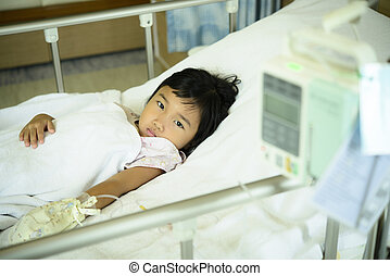 Kid sick in the hospital