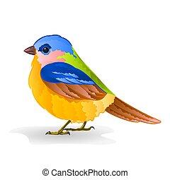 Small bird titmouse vector.eps - Small bird titmouse cute...