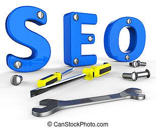 Search Engine Optimization Indicates Gathering Data And Information