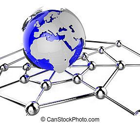 Worldwide Network Means Global Communications And Computing