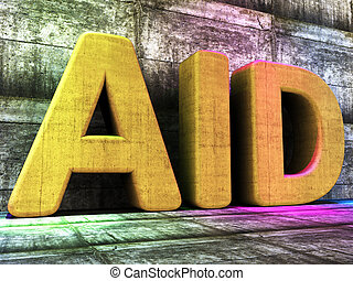 Aid Word Indicates Charitable Assisting And Faq - Aid Word...
