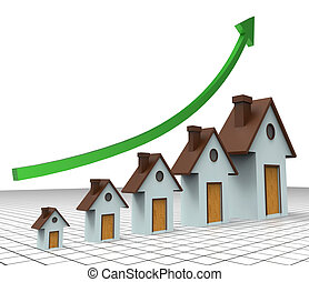 House Prices Increase Means Return On Investment And Amount...