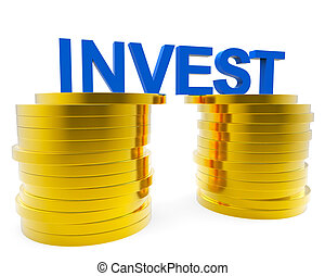 Invest Money Indicates Finance Investor And Roi - Invest...