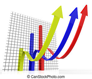 Increasing Graph Indicates Growing Upward And Forecast -...