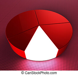 Pie Chart Shows Statistic Profit And Graphics