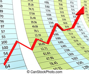 Progress Graph Means Financial Report And Diagram