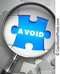 Avoid - Magnifying Glass Searching Missing Puzzle. - Avoid -...