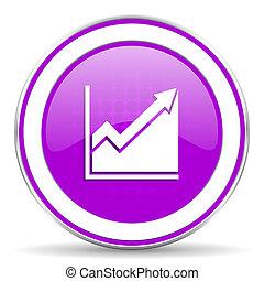直方圖, 簽署, 股票, 圖象, 紫色
