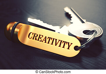 Keys with Word 'Creativity' on Golden Label.