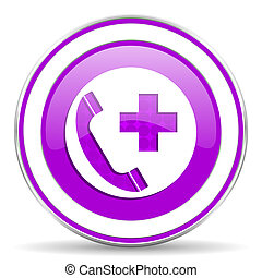 emergency call violet icon