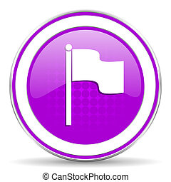 flag violet icon