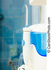 Oral care. home water flosser tool for clean teeth