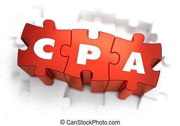 CPA - White Word on Red Puzzles. - CPA - Cost Per Action -...