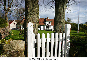 farm house denmark - farm house in denmark gate to garden...